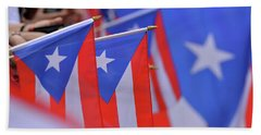 Puerto Rican Flag Beach Sheet