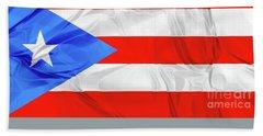 Puerto Rico Flag Beach Sheet