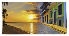 Puerto Rico Montage 1 Beach Towel by Stephen Anderson