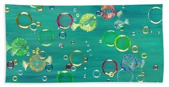 Pufferfish Rainbow Beach Towel