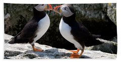 Puffin Love Beach Towel