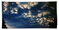 Puffy Storm Clouds Beach Towel