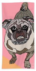 Pug In Digi Beach Sheet