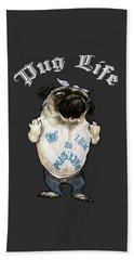 Pug Life Beach Sheet