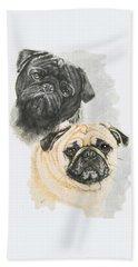 Pugs Beach Towel by Barbara Keith