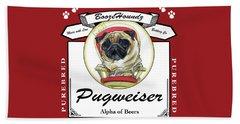 Pugweiser Beer Beach Towel