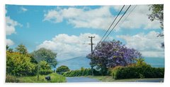 Pulehuiki Road Upcountry Kula Maui Hawaii Beach Towel by Sharon Mau