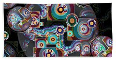 Beach Towel featuring the digital art Pulse Of The Motherboard by Lynda Lehmann