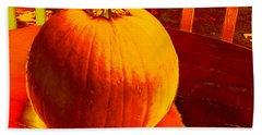 Pumpkin #4 Beach Sheet