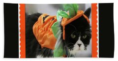 Pumpkin Humphries Beach Towel