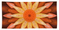 Pumpkin Mandala -  Beach Towel