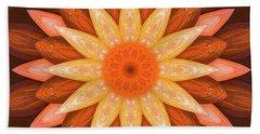 Pumpkin Mandala -  Beach Sheet