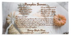 Pumpkin Scones Recipe Beach Towel