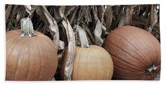 Pumpkins For Sale Beach Towel