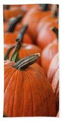 Pumpkins In A Row Beach Sheet