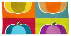 Pumpkins- Pop Art By Linda Woods Beach Towel
