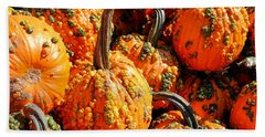 Pumpkins With Warts Beach Towel