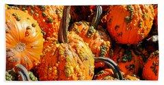 Pumpkins With Warts Beach Sheet