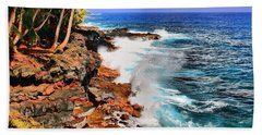 Beach Towel featuring the photograph Puna Coast Hawaii by DJ Florek