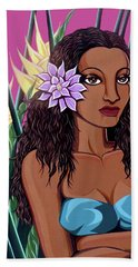 Punaluu Girl Beach Towel by Tara Hutton