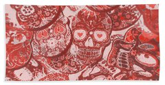 Punks Of Skull Love Beach Towel