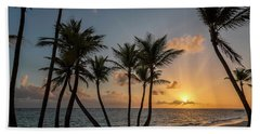 Beach Towel featuring the photograph Punta Cana Sunrise by Adam Romanowicz