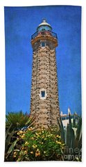 Beach Towel featuring the photograph Punto Doncela Lighthouse by Mary Machare