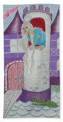 'punzel -- Portrait Of Storybook Character Rapunzel Beach Towel