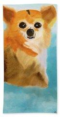 Puppy Dog Eyes Beach Towel by Meryl Goudey