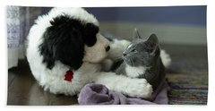 Beach Towel featuring the photograph Puppy Love by Linda Mishler