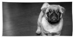 Puppy - Monochrome 2 Beach Towel
