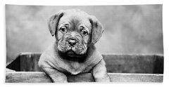 Puppy - Monochrome 3 Beach Towel