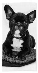 Puppy - Monochrome 5 Beach Towel