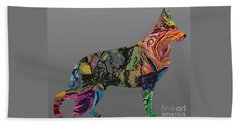 Beach Towel featuring the digital art Pure Emotion Gsd by Ania M Milo