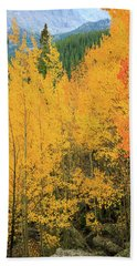 Pure Gold Beach Towel by David Chandler