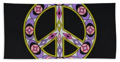 Beach Towel featuring the painting Pure Peace by Joseph Sonday