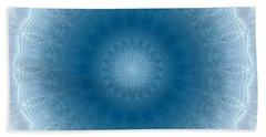 Purity Mandala By Rgiada Beach Towel by Giada Rossi