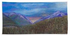 Purple Alaska Beach Towel