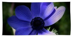 Purple Anemone Beach Sheet