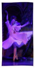 Purple Ballet Dancer Beach Towel