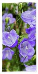 Purple Bell Flowers Beach Sheet
