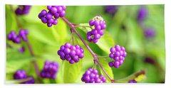 Purple Berries Beach Sheet