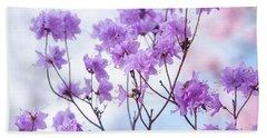 Beach Sheet featuring the photograph Purple Blue Romance by Jenny Rainbow