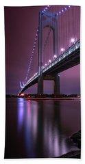 Beach Towel featuring the photograph Purple Bridge by Edgars Erglis