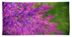 Purple Bush Beach Towel