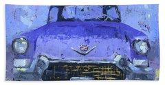 Purple Cadillac Beach Towel