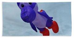 Purple Cartoon Kite Beach Towel
