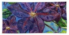 Purple Clematis Beach Sheet