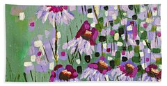 Purple Coneflowers Beach Sheet