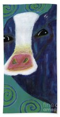 Santa Cow Beach Towel